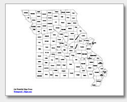 printable Missouri county map labeled