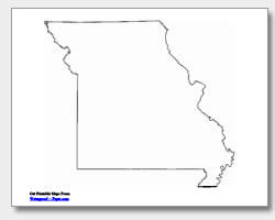 printable Missouri outline map