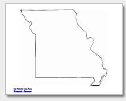 printable Missouri outline map