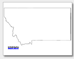 printable Montana outline map