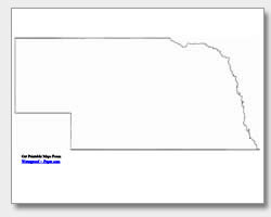 printable Nebraska outline map