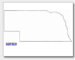 printable Nebraska outline map