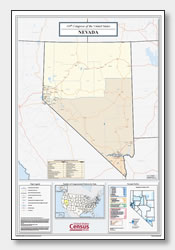 printable Nevada congressional district map