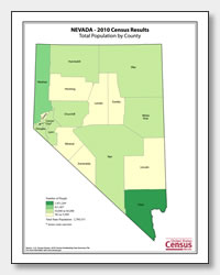 printable Nevada population by county map