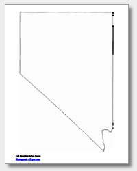 printable Nevada outline map