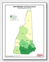 printable New Hampshire population by county map