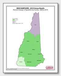 printable New Hampshire population population change map