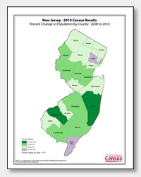 printable New Jersey population population change map