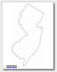 printable New Jersey outline map