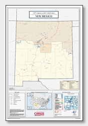 printable New Mexico congressional district map