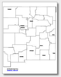 printable New Mexico major cities map labeled
