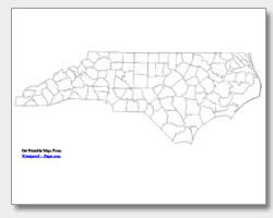 Printable North Carolina Maps State Outline County Cities - County map north carolina