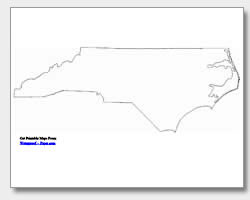 printable North Carolina outline map