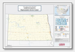printable North Dakota congressional district map