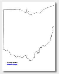 Printable Ohio Maps State Outline County Cities