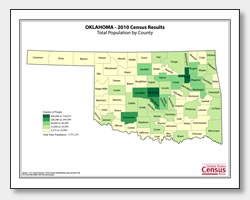 Printable Oklahoma Maps State Outline County Cities - Oklahoma county map