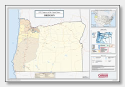 printable Oregon congressional district map