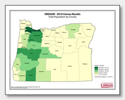 printable Oregon population by county map