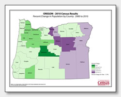 printable Oregon population change map