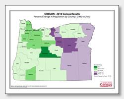 printable Oregon population population change map