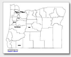 printable Oregon major cities map labeled