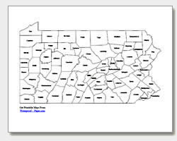 Printable Pennsylvania Maps | State Outline, County, Cities