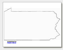 printable Pennsylvania outline map
