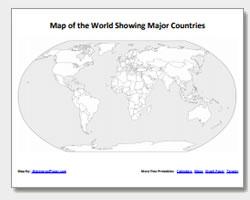 Printable World Outline Maps