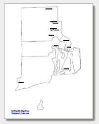 printable Rhode Island major cities map labeled