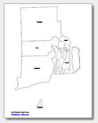 printable Rhode Island county map labeled