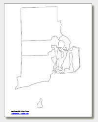 printable Rhode Island county map unlabeled