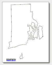 printable Rhode Island outline map