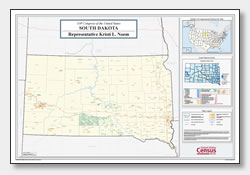 printable South Dakota congressional district map