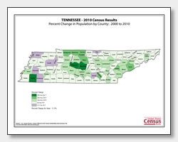 printable Tennessee population population change map