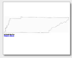 printable Tennessee outline map