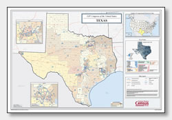 printable Texas congressional district map