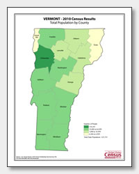 printable Vermont population by county map