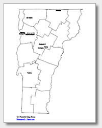 Printable Vermont Maps | State Outline, County, Cities