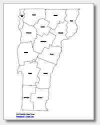 printable Vermont county map labeled