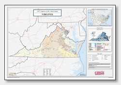 printable Virginia congressional district map