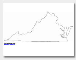 Printable Virginia Maps State Outline County Cities - State map of va