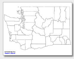 Printable Washington Maps State Outline County Cities - Washington counties map