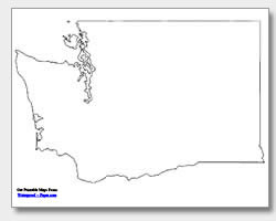 printable Washington outline map