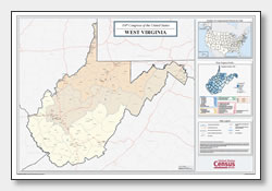 printable West Virginia congressional district map